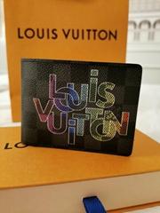 LOUIS VUITTON *limited* NEW Multiple Wallet Damier Graphite Rainbow Virgil Abloh