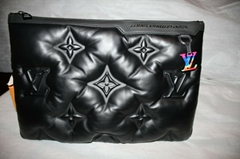 LOUIS VUITTON VIRGIL ABLOH 2054 A4 POUCH 3D SOFT LAMBSKIN LEATHER CLUTHES WALLET