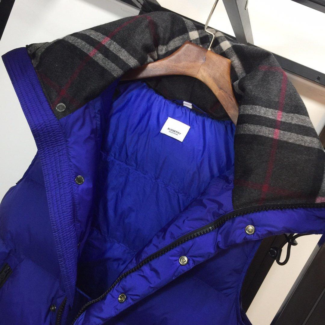 Burberry men's Hooded Quilted Nylon Down Jacket with Detachable Sleeves