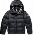 men's Hooded Quilted Nylon Down Jacket