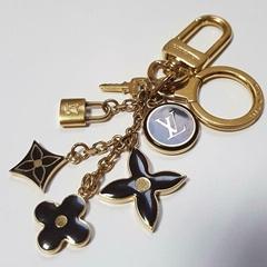 Louis Vuitton Monogram Padlock Key Keyring Bag charm Dark Brown buy lV cheap