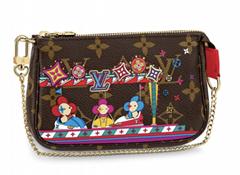 Louis Vuitton Christmas 2020 Holiday Mini Pochette Accessoires Brown Chain Bag