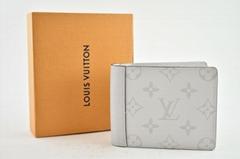 Louis Vuitton Taiga White Antarctica Taigarama Monogram Bifold Multiple Wallet