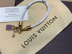 Louis Vuitton Multi-Color Monogram Canvas Padlock Bracelet
