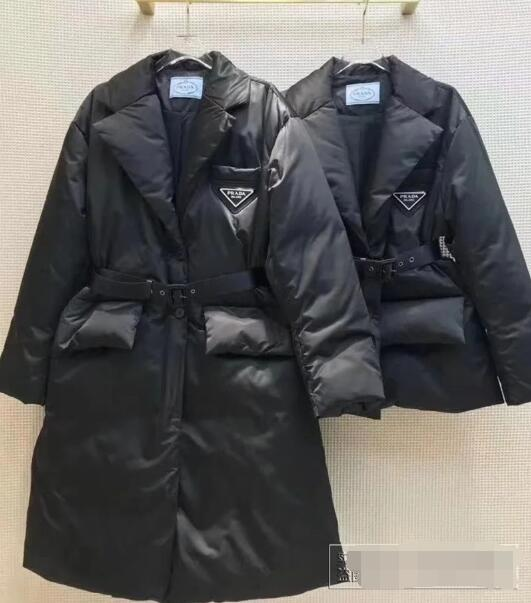 Belted quilted down coat Women       logo down jackets  5