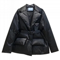 Belted quilted down coat Women       logo down jackets  8