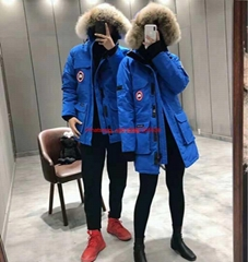 PBI Expedition Parka Blue down coats Men/Women Outerwear Jacket