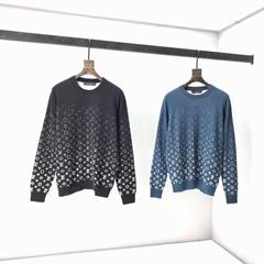GRADIENT MONOGRAM CREWNECK    jacquard Fit cotton sweaters