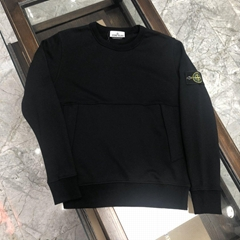 Stone Island Ghost Crew Sweatshirt black men cotton pullover