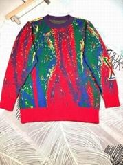 Jacquard Crewneck Fashion    men cotton sweater