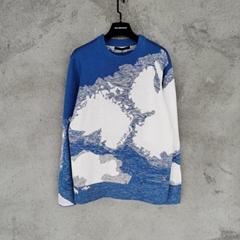 HAND-KNIT CLOUD INTARSIA CREWNECK    knitwear sweater