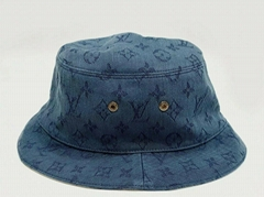 Louis Vuitton Escale Monogram Giant Wave Denim Sun Bucket Hat caps LV cheap sale
