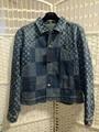 Nigo Damier Waves Monogram Men fashion    Denim Jacket cheap sale