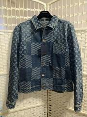 Louis Vuitton Nigo Damier Waves Monogram Men fashion LV Denim Jacket cheap sale