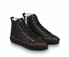 STELLAR SNEAKER BOOT     Embossed lambskin Black sneaker boot