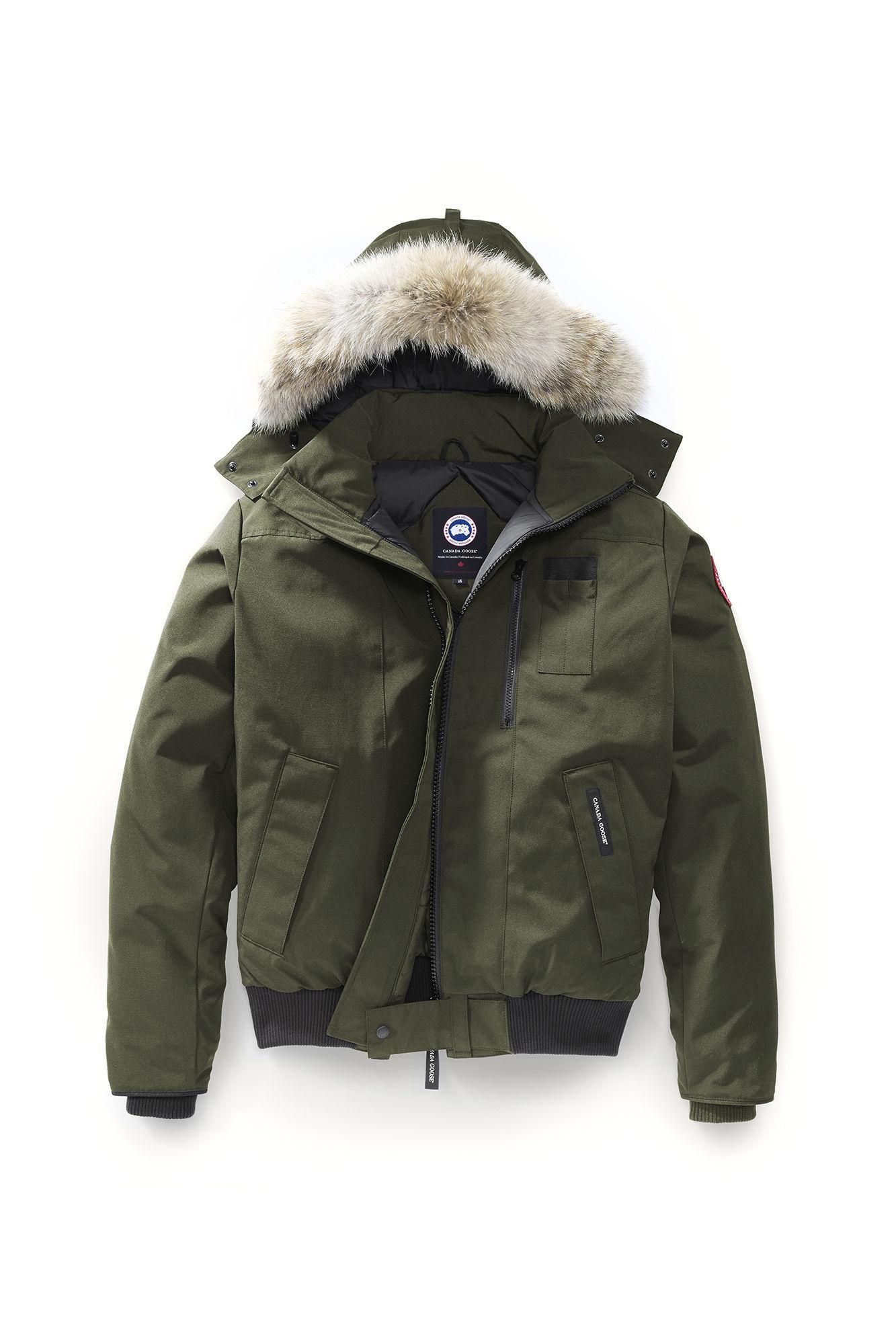 MEN'S BORDEN BOMBER JACKET with coyote fur hood men Chilliwack coat 13