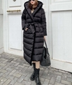 Kington Faux Fur Trim Long Down Coat