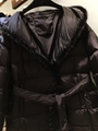 Burberry Kington Faux Fur Trim Long Down Coat black