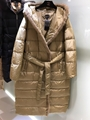 Burberry Kington Faux Fur Trim Long Down CoatBurberry Kington Faux Fur Trim Long Down Coat beige