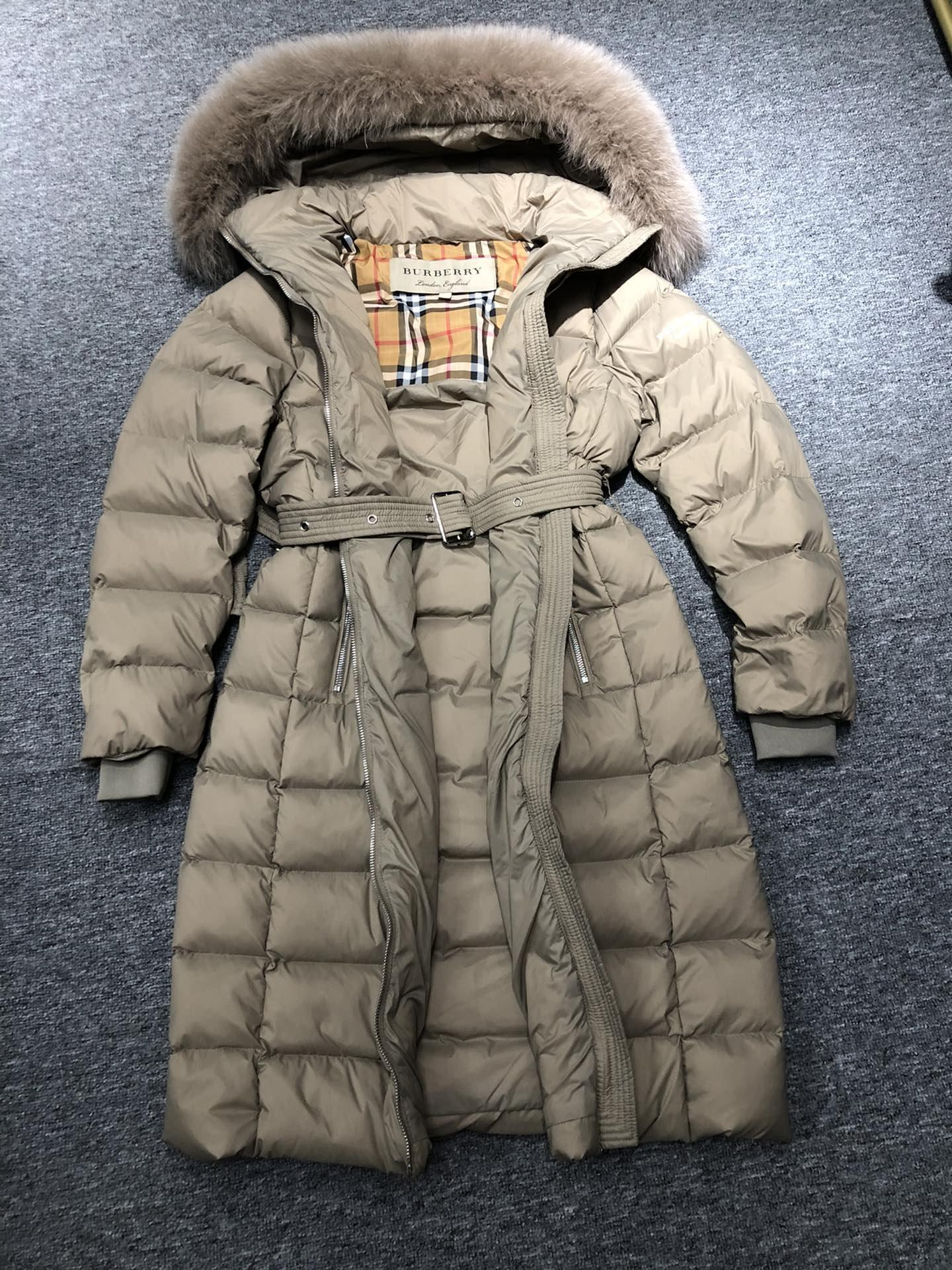 Burberry Belted Down Puffer Coat