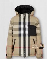 Rutland checked shell down puffer jacket men winter snow coats