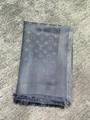 Louis Vuitton Charcoal Grey Silver Monogram Shine Logo Wrap Shawl Scarf M75120