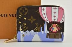 Louis Vuitton Holiday Pink Vivienne Brown Monogram Zippy Coin Purse Wallet