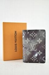 Louis Vuitton Black Silver Galaxy Monogram Logo Pochette Pocket Organizer Wallet