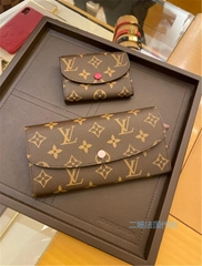 Louis Vuitton Monogram Portefeuille Victorine Mimi Trifold wallet purse bag LV