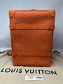 Louis Vuitton Virgil Abloh Orange Monogram Soft Trunk Backpack MCA RARE