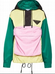 Colour-Block Pocket Hoodie       women oversized jacket