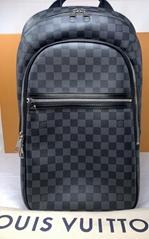 LOUIS VUITTON Damier Michael N58024 Graphite PVCx leather Men's Backpack men bag