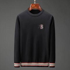 Trimmed Cashmere Sweater Men Black fashion man sweater