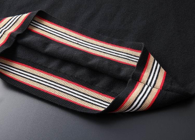 Trimmed Cashmere Sweater Men Black fashion man sweater 7