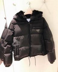 Short puffer jacket women Goose down padding coats