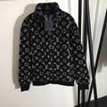 Black Monogram Jacquard Fleece Jacket
