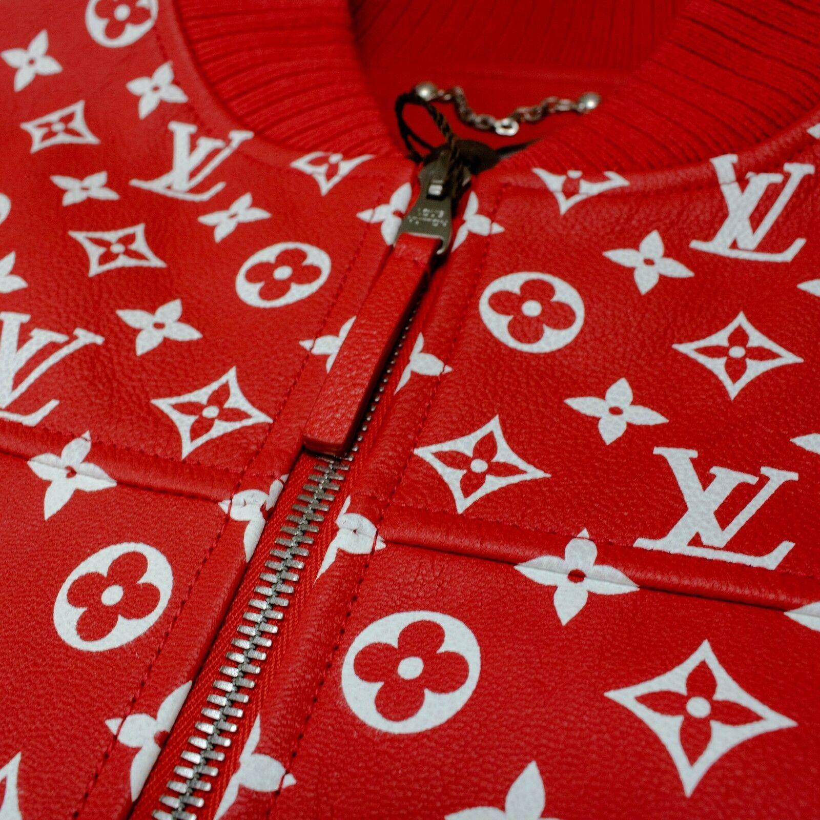 Supreme x Louis Vuitton Leather Blouson Monogram Jacket