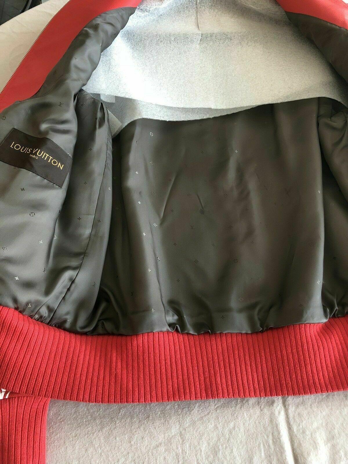 x               Leather Blouson Monogram Bomber Jacket Varsity 1A3FBF    11