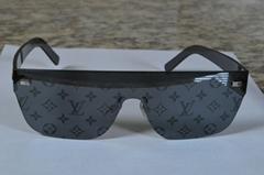 City Mask Sunglasses Monogram All Over Print Reflect Refle