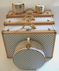 NEW               Azur Alzer Beauty Case Hat Trunk Set    BOX Travel L   age