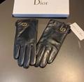 Dior Women's Black Vintage Leather gloves design gloves
