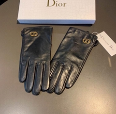 Women's Black Vintage Leather gloves design gloves
