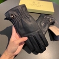 Burberry Women's Black Leather Gloves