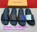 Louis Vuitton womens shoes LV Academy Flat Sandal Calf leather Monogram shoes