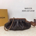 Louis Vuitton Boursicot EW LV M45229 Monogram Calfskin-leather fashion cluthes
