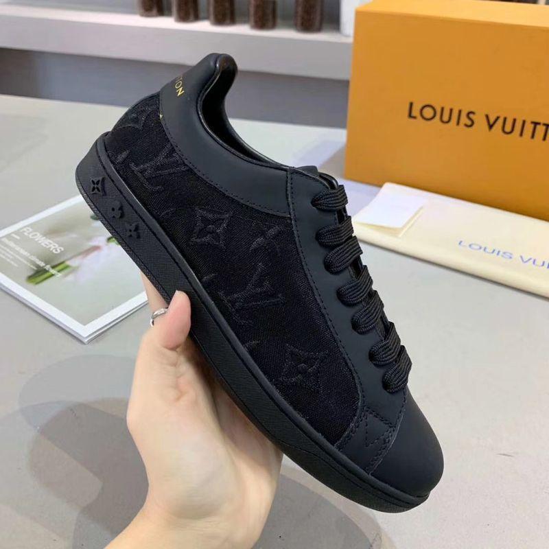 Louis Vuitton Luxembourg Sneaker 1A5S8M Transparent textile Monogram Flowers LV