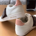 Louis Vuitton Frontrow Sneaker 1A5N59 wide strap white calf leather designer LV