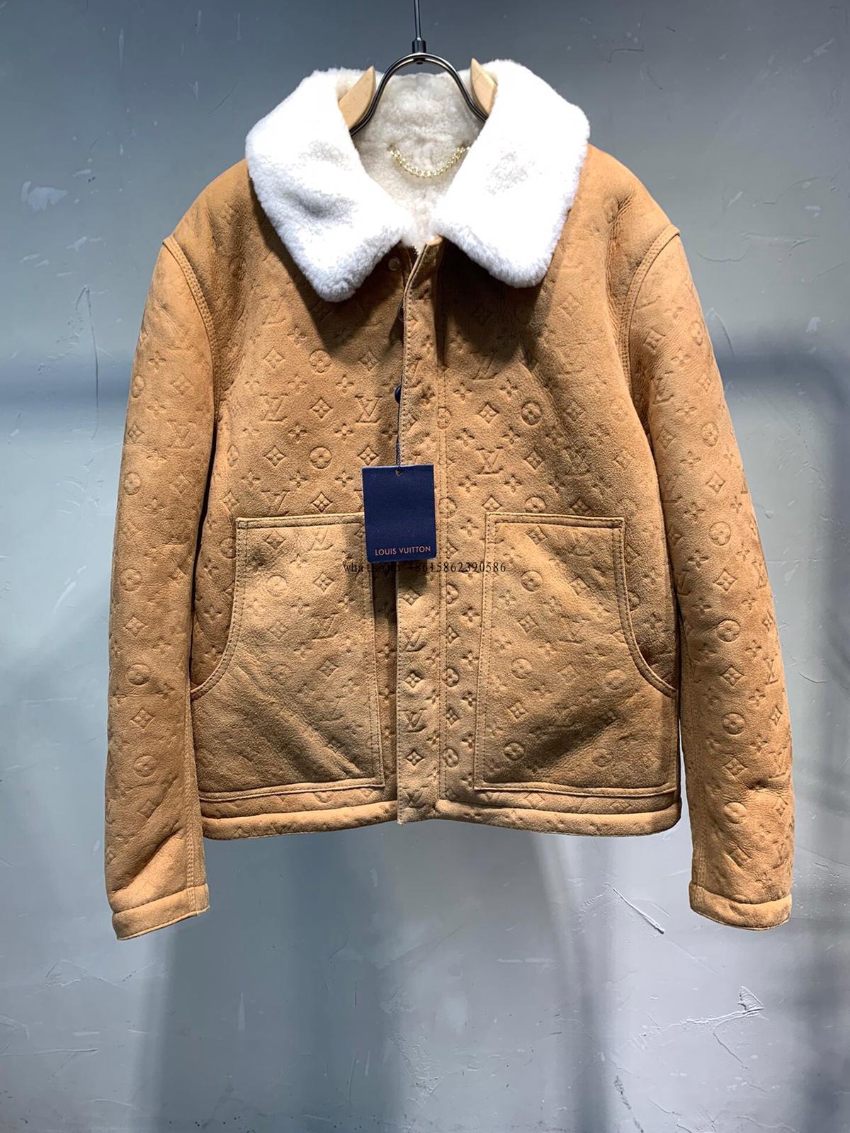 Louis Vuitton SHEARLING EMBOSSED MONOGRAM JACKET