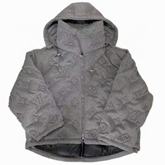 Monogram Boyhood Puffer Jacket    grey down coat (Hot Product - 1*)