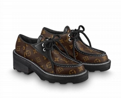 iconic Monogram canvas BEAUBOURG PLATFORM DERBY    lace up loafer